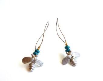 EAD2015 24/365 Sterling Silver Lucky Bee Earrings