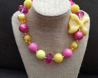 Chunky Pink Lemonade Necklace
