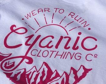 Stamp / Women's T-Shirt - Rose Pink Cyanic Clothing