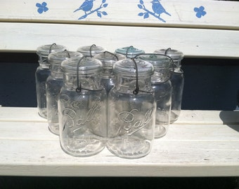 Vintage quart ball ideal mason jars