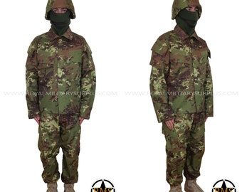 Military Costume / Army Style Clothing - Infantry Kit - Italy Army Disruptive/Evolutive Camouflage - Airsoft & Paintball - VEGETATO