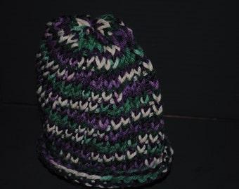 Hand Knit Child's Beanie Hat