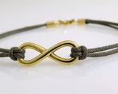 Women Infinity bracelet ,Bff gold bracelet , Unique bracelet , Gold infinity bracelet, Gift for her, Yellow gold bracelet, Woven bracelet