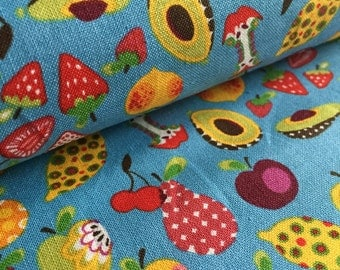 Willow Orchard Berries in BLUE by Alexander Henry Fabric