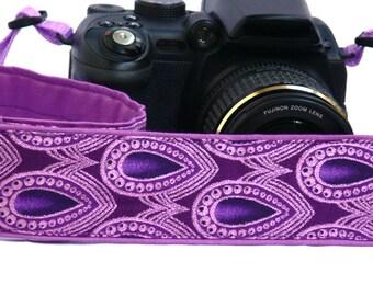 Purple Camera Strap. DSLR SLR Camera Strap. Camera Strap. Camera Accessories