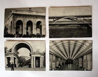 "A set of 15 postcards ""Moscow metro Lenin"". Monochrome postcards."