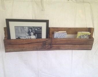 Pair of Reclaimed Pallet Shelves