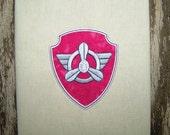 Skipper Badge Applique Machine Embroidery Design Pattern-INSTANT DOWNLOAD