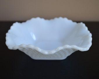 Vintage milk glass dish