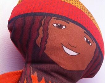 Rasta doll, Handmade stuffed, reagge mascot, hippie doll, rasta toy, rastafarian dolls, rastaman, doll for boys, gift for boys, gift for men