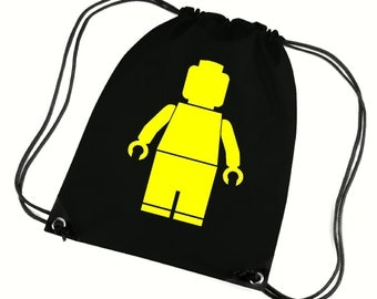 Lego man gym bag,pe bag,school bag,water resistant drawstring bag.