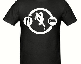 Eat Sleep SKATEBOARD t shirt, boys t shirt sizes 5-15 years,children's SKATEBOARD Routine t shirt
