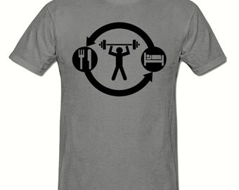 Eat Sleep GYM t shirt,men's t shirt sizes small- 2xl, GYM men's t shirt