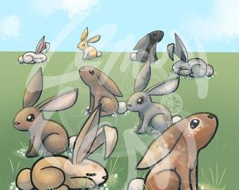50% OFF Bunnies Clip Art, scrapbook clip art, cute clip art, clip art, bunny clip art, rabbit clip art, Easter clip art, spring clip art