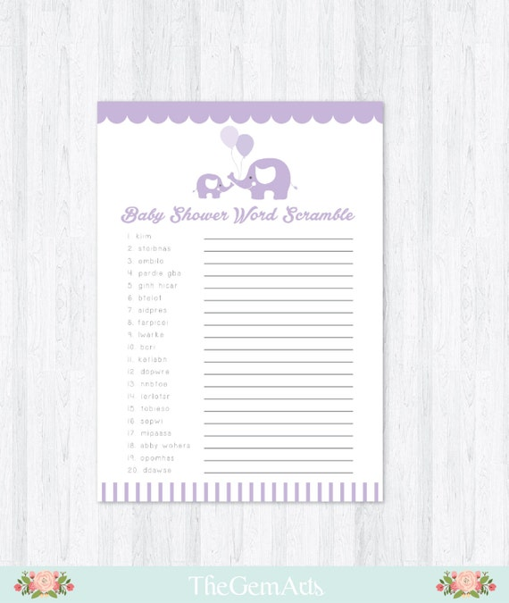 elephant baby shower game diy printable baby shower game baby shower