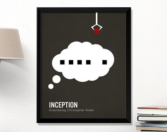 Inception movie poster, minimalist, cinema, Inception, Leonardo DiCaprio, contemporary art