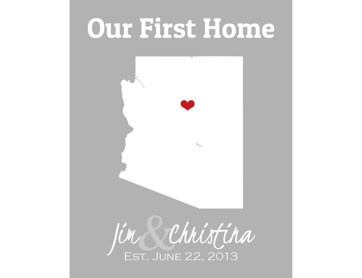 Our First Home Sign New Home Housewarming Gift House By