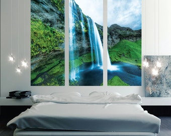 Waterfall Wall Decal Murals, Waterfall Wall Decal, Waterfall Wall Design, Waterfall Wall Decor, Waterfall Wall Sticker, Waterfall Art, c57