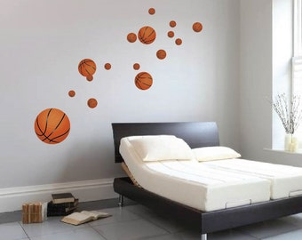 Basketball Decals, Reusabel Basketball Murals, Sports Wall Decals, Kidu0027s  Room Basketball Wall Mural Part 95