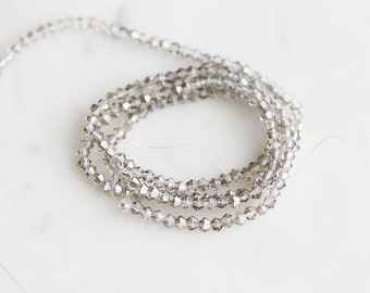 A2-618-5-02] Gray Crystal / 2mm / Bicone Bead  / 1 strand