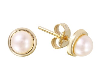 Pearl Stud Earrings Silver 925 Rhodium or Goldplated