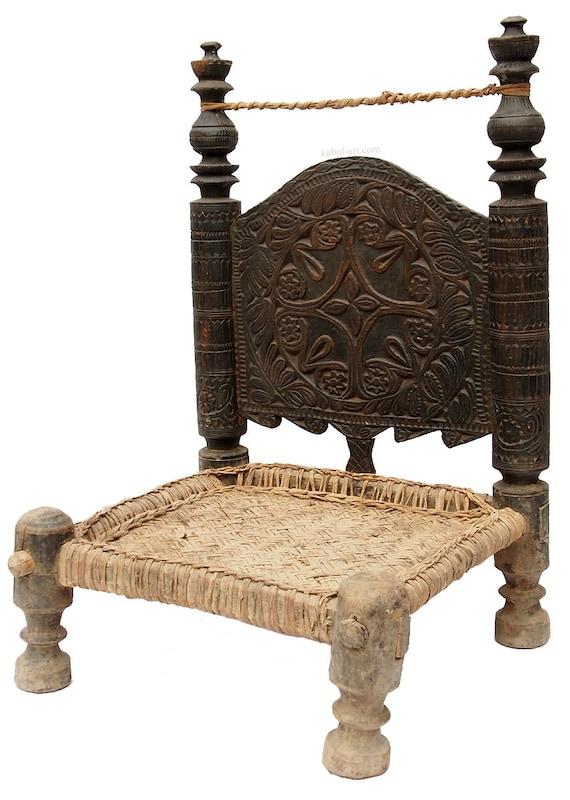Antique 19th Century Orient Vintage Cedar Wood Chair From