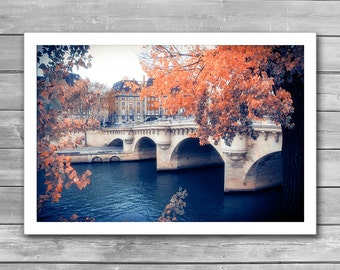 Autumn in Paris, Paris Photography, Wall Art Print, Paris Decor, Romantic Art Print, Fine Art Photography, Fall City, Fall Time in Paris