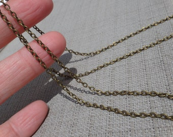 Antiqued brass Chain. Length choice. Personalized lenght. Custom made.