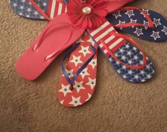 Flip Flop Door Wreath