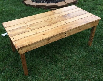 Rustic simple coffee table with 100% wood joinery