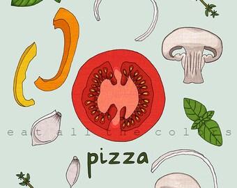 pizza - 11x14 print