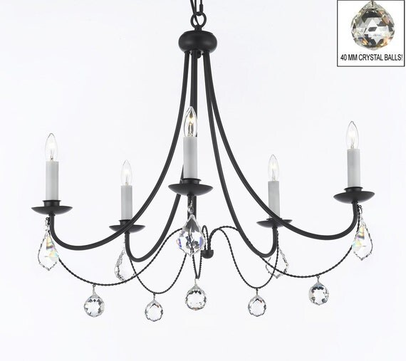 Empress Crystal Tm Wrought Iron Chandelier By Gallerylighting