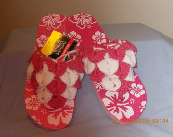 White And Pink Flip Flop