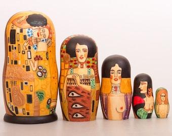 Gustav Klimt Stacking Doll 7'' (5 pc.)