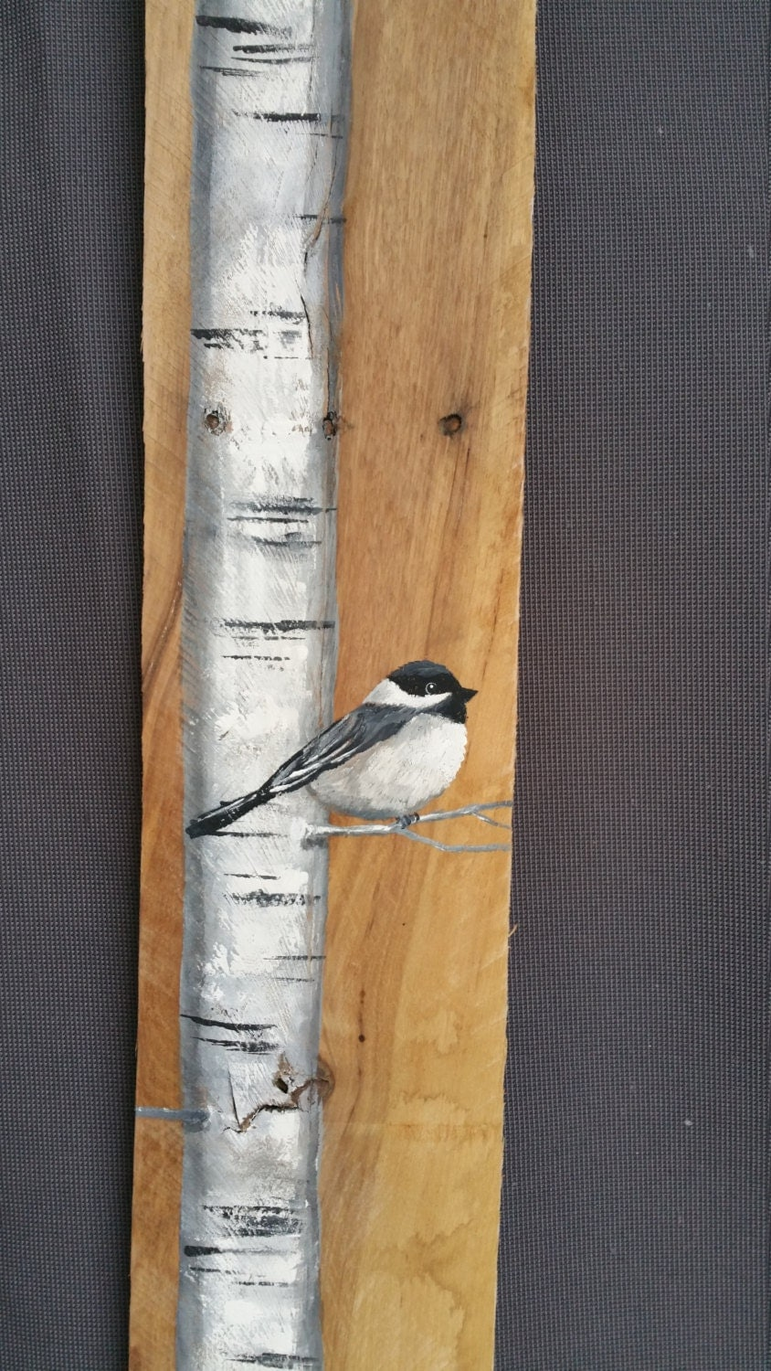 White birch painting reclaimed wood pallet by for White painted pallets