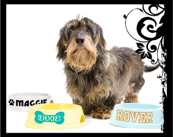 Personalized Dog Bowl Decal / Personalized Cat Bowl Decal / Dog Name Decal / Dog Bowl Decal /Cat Bowl Decal; vinyl decals