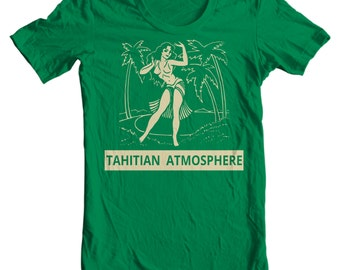 Vintage Pin Up T-shirt - Tahitian Atmosphere Vintage Matchbook T-shirt