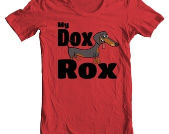 Dachshund T-shirt - My Dox Rox - My Dog Dachshund T-shirt