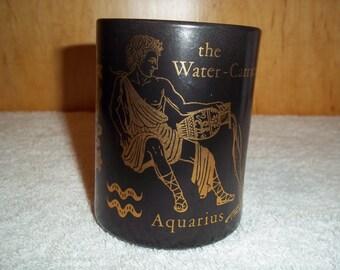 Vintage Federal Glass Aquarius the Water-Carrier Mug