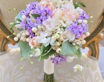 Faux Fresh Inspired Pastel Bouquet