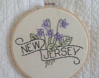 New Jersey - Meadow Violet 8'' Hoop