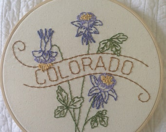 Colorado - Rocky Mountain Columbine 9'' Hoop