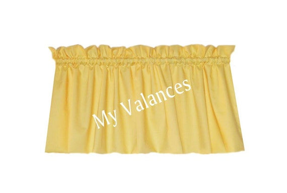 Solid Butter Yellow window curtain valance  Kids boys girls room kitchen bathroom bedroom topper LINING. Solid Butter Yellow window curtain valance  Kids boys girls room