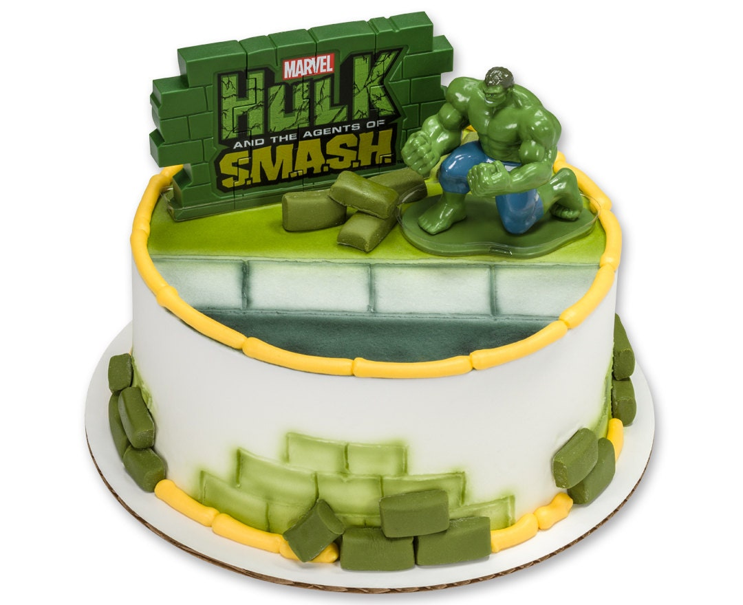 Marvel's Hulk Agents of S.M.A.S.H. Cake Topper Decoration
