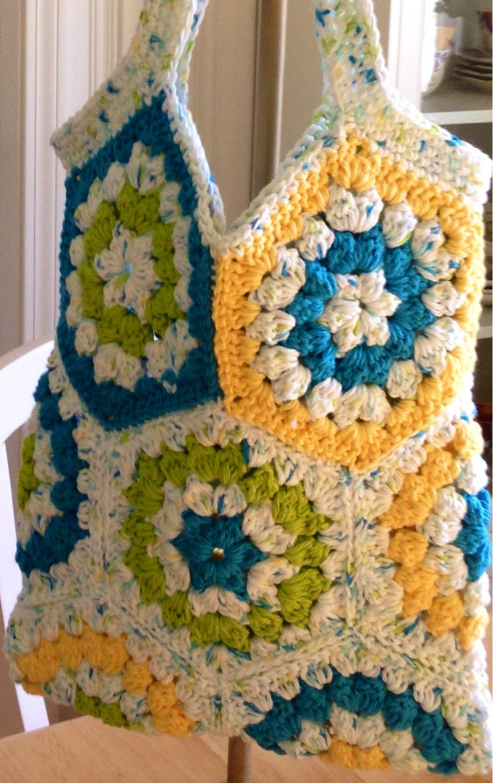 Crochet Hexagon Bag : Tote bag market bag hexagon crochet bag by BsCozyCottageCrafts