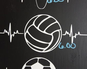 Volleyball Heartbeat Decal
