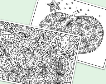 Halloween pumpkins printable coloring pages