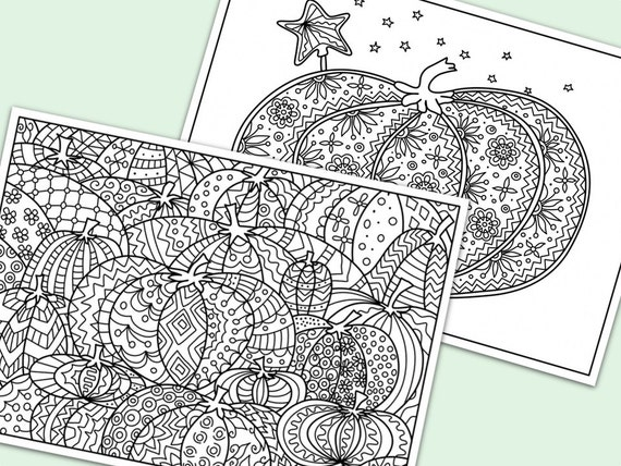 Halloween Pumpkins Printable Coloring Pages By ColorYourMood