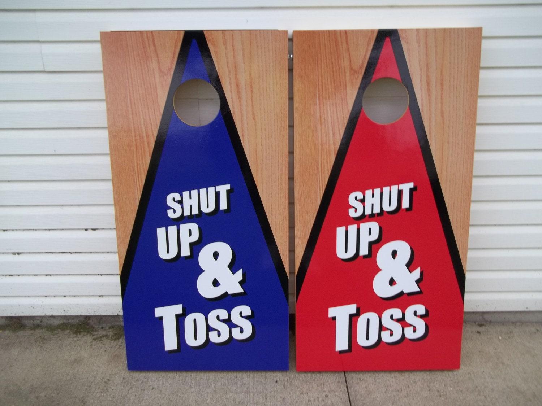 Shut Up Toss Corn Hole Boards Bean Bag Toss Game
