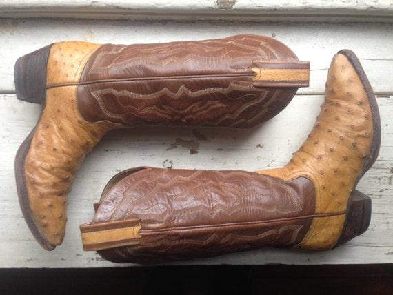 vintage ostrich skin cowboy boot womens sz by